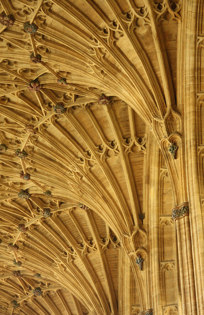 Fan vaulting, Sherbourne Abbey (15th century)