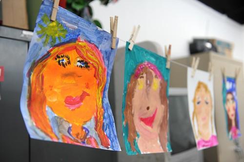 Hope's self portrait...like picasso