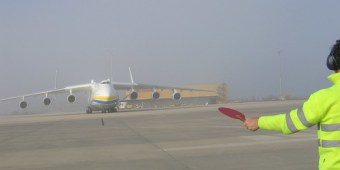 AN225 en Foronda el 26 de abril del 2010