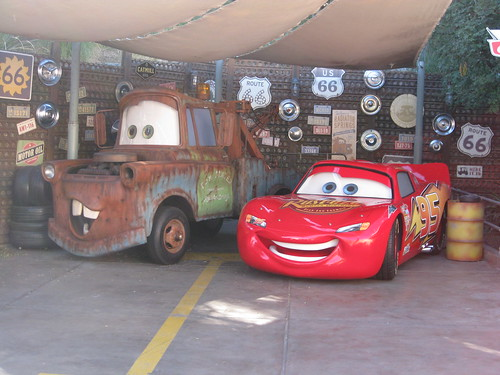 Lightning and Tow-Mater!  I think these are the same cars from the parade.
