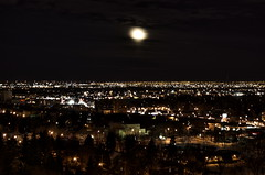 moon over city