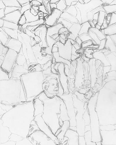 Jolly Beggars pencil sketch