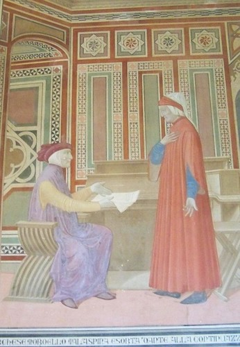 Dipinto di Dante con il marchese Malaspina