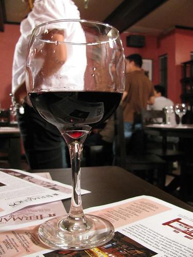 Red Wine at Hermanos Deli Bar
