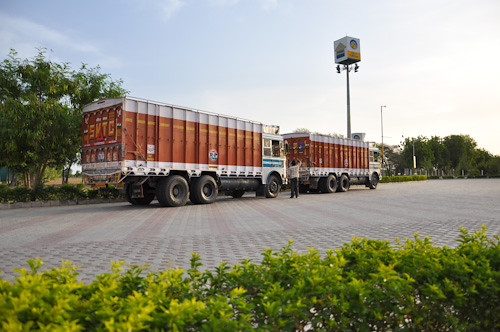 Indian cargo transport trucks