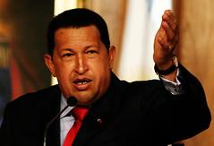 El Comandante Hugo Chavez en el Salón Ayacucho