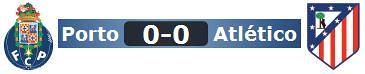 Porto 0 - Atlético 0