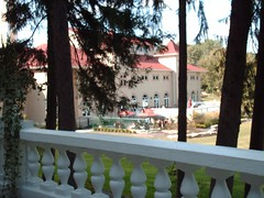 West Baden Springs Hotel - looking out from one of the verandas