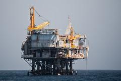Oil Drilling Platform in the Santa Barbara CA ...