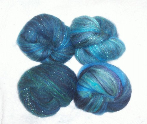 Midnight on the Water handblended batts