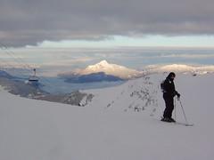 Lone Skiier in Flaine