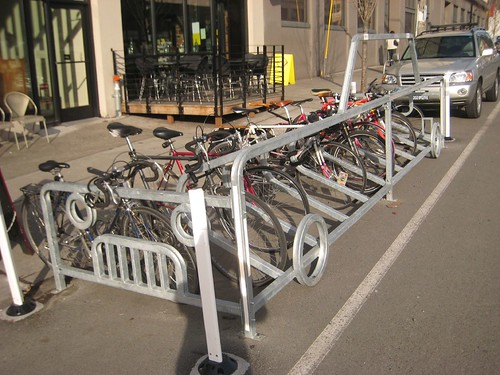 On-Street bike parking in front of Stumptown on 12th