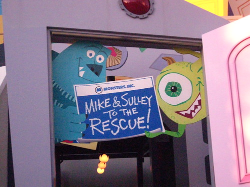 Before dinner, we went on Mike and Sulley to the Rescue!