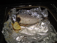 Baked Seabream in the pan