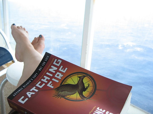 Reading Catching Fire while on the cruise