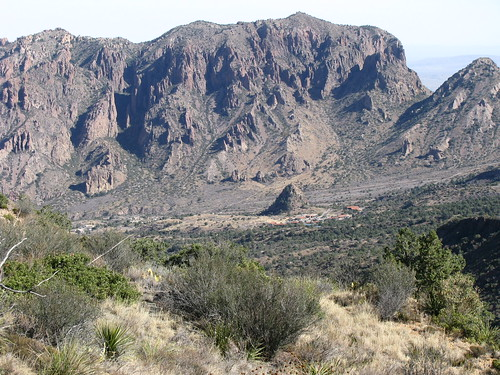 Chisos Basin from the top of the Laguna Meadow Trail