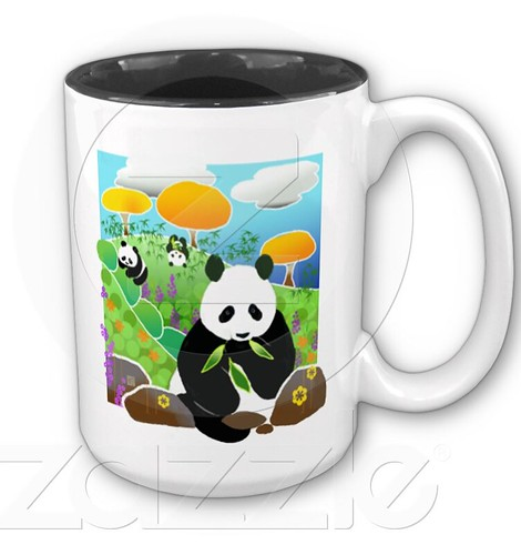 MOTHERS WORK IS NEVER DONE..panda mug by Sandra Miller by you.