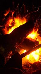 Big Campfire on Last Night