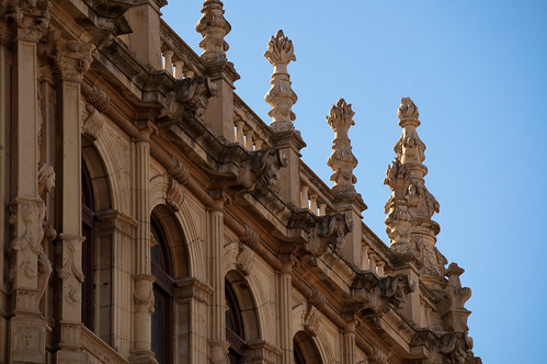 Detalle de la fachada de la universidad