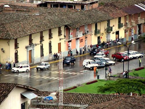Vista del centro de Cajamarca