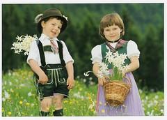 Austrian Children in Traditional Costume