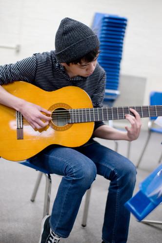 Jake playing the guitar