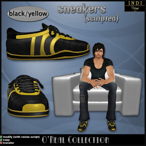 O'Neil sneakers black/yellow