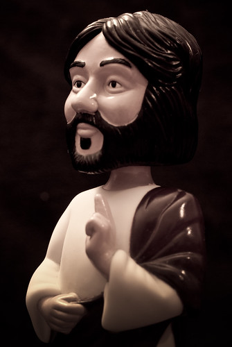 Bobble Head Jesus, on dark background
