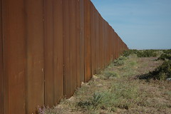 The Wall, US border, separating Mexico from th...