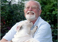Roger Whittaker and dog