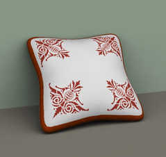 Lovely pillow for decorating virtual couches and beds