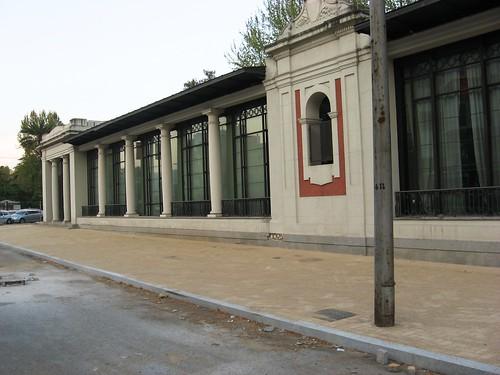 La sala de exposiciones de la pergola del Duque de Rivas que lleva cerrada un año.