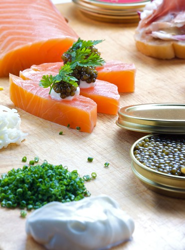 Balik Salmon and Chinese Caviar