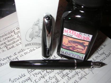 Leonardo Calligraphy Pen Meets Noodlers Black Ink