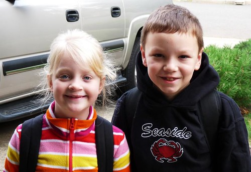 Lil Miss & Cody on the first day of school, September 2, 2009.