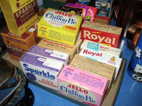 Historical jell-o boxes