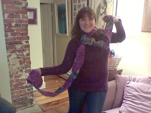 Liz with scarf!