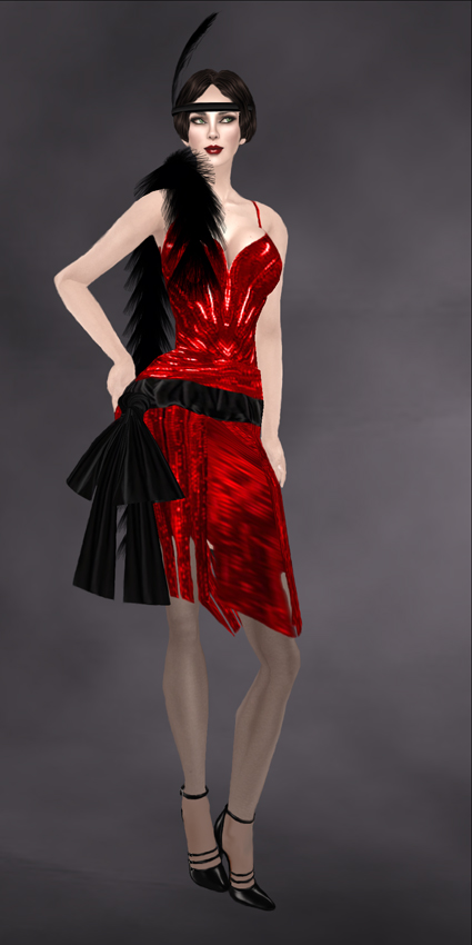 Rebel Hope Outfit #2 - Clara Bow - Flapper