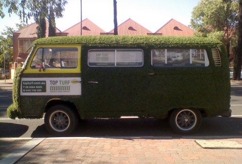 The unmistakeable Top Turf van