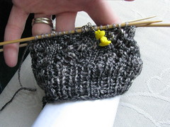 Sock in progress - stretched