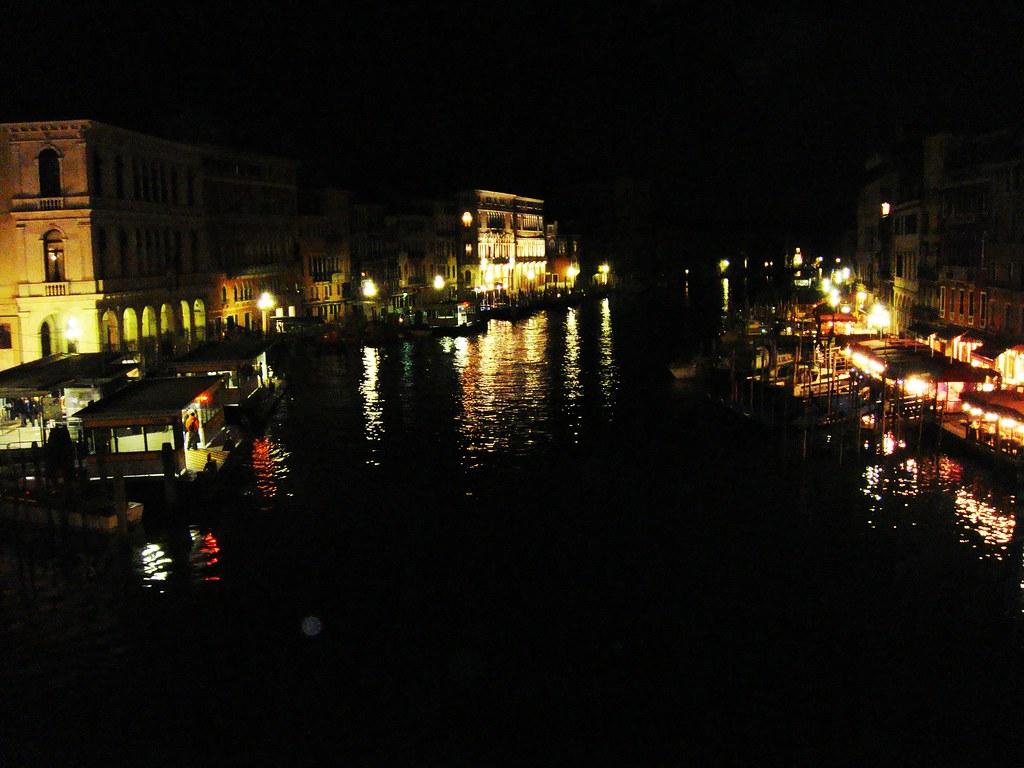 Panorámica de Venecia (Gran Canal), por la noche