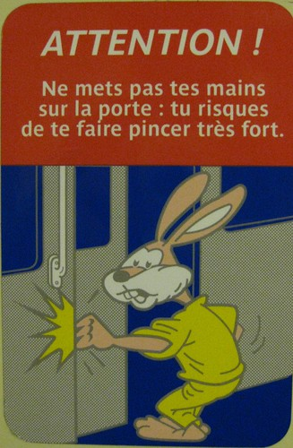 Pink Rabbit in a French RER