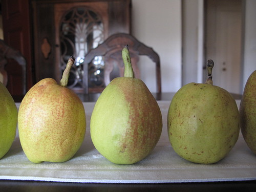 delicious fragrant pears