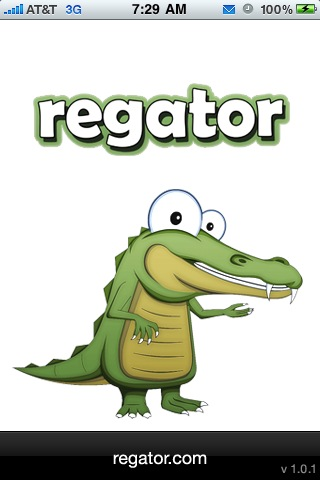 Regator iPhone app screenshots