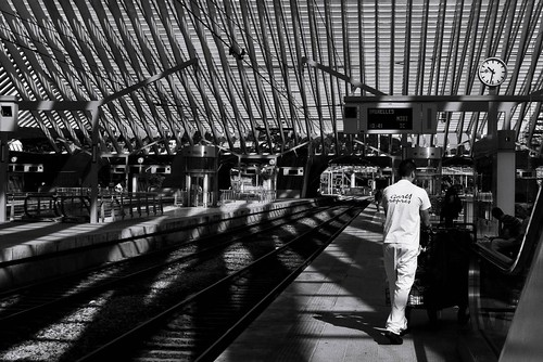 Cleaning the Station (Liège-Guillemins) - Photo : Gilderic