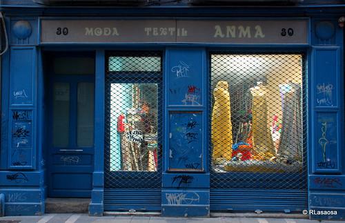 """Tienda textil """"Anma"""", Pamplona  Tienda de tejidos y moda situada en la calle Mayor de Pamplona."""