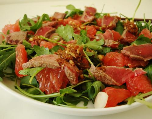 Japanese beef tataki salad