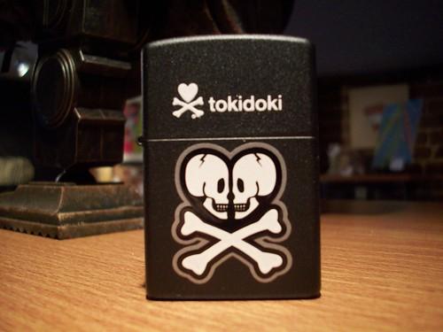 Skull Heart Zippo - Tokidoki