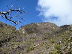 Parte del volcán.