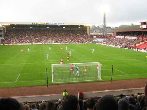 Looking towards the CK Beckett stand, and a City corner
